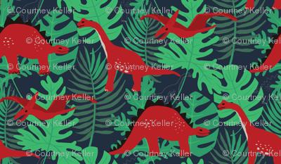 Prehistoric Dinosaur Pattern