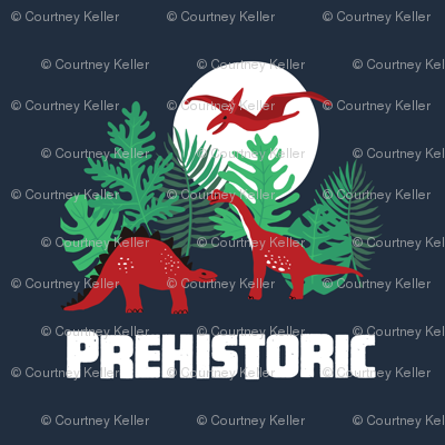 Prehistoric Dinosaurs Full Moon placement graphic