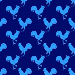 cockerel blue on blue