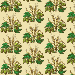 Hops And Barley Fabric Wallpaper Gift Wrap Spoonflower