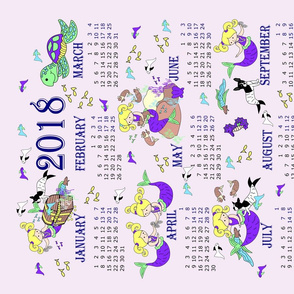 2018 mermaid calendar