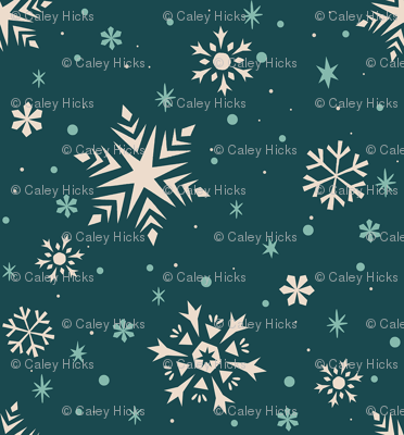 Snowflakes & Flurries (BLUE)