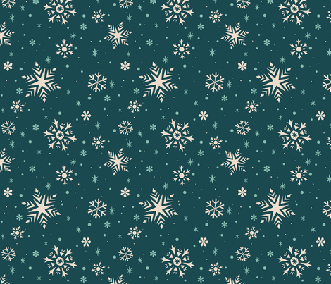 Snowflakes & Flurries (BLUE) fabric by therewillbecute on Spoonflower - custom fabric