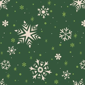 Snowflakes & Flurries (GREEN)