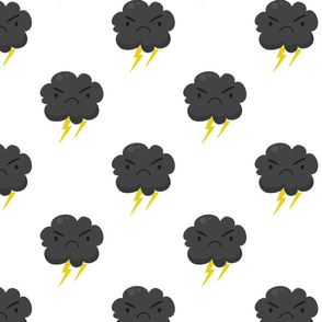 Angry emoji storm clouds