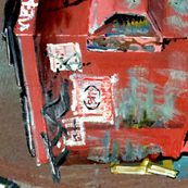Red Dumpster Fabric