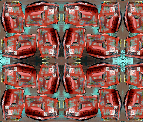 Red Dumpster Fabric fabric by emilyjanewood on Spoonflower - custom fabric