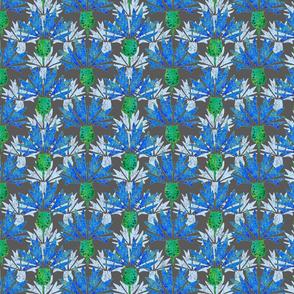 Moroccan Blue & Dusty Cornflowers N1 (grey)