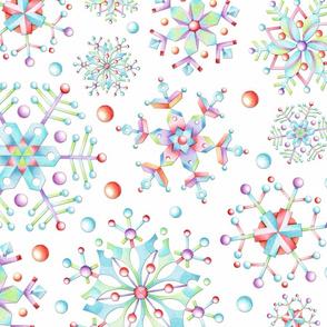Prismatic Snowflakes