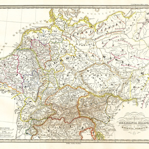 "1855 Map of Germany (42""W)"