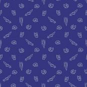 Sketchy Squirrels - White/Blue