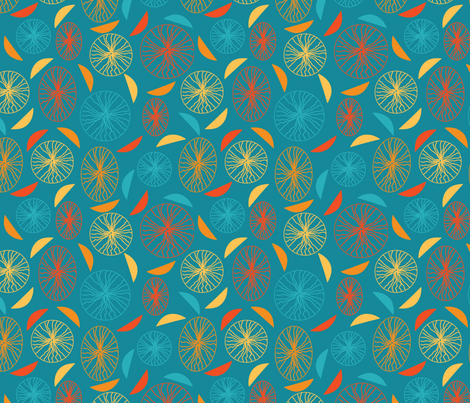 Blue-Confetti fabric by oona2707 on Spoonflower - custom fabric