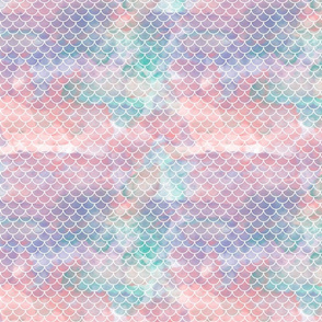 Watercolour Mermaid Scales 1""