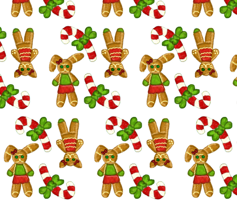 Ginger Candy White fabric by chappy_and_neko on Spoonflower - custom fabric