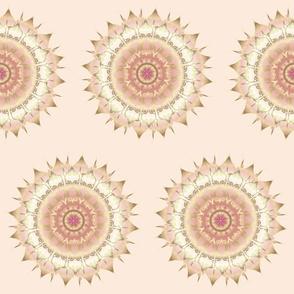 Delicate Gold Rose Mandala