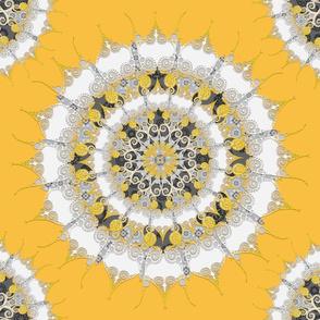 Mandala on mustard