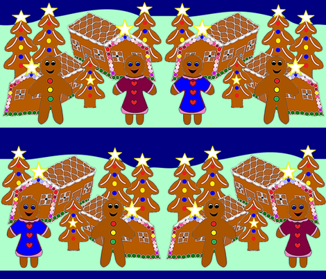 It's a Gingerbread Christmas! fabric by b2b on Spoonflower - custom fabric