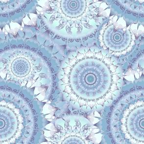 Delicate Mandala Pattern blue