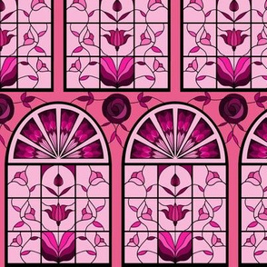 Stained Glass Windows in Pink