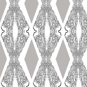 Geometric Diamonds Silver