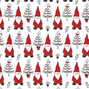 Santa Gnomes White - Small