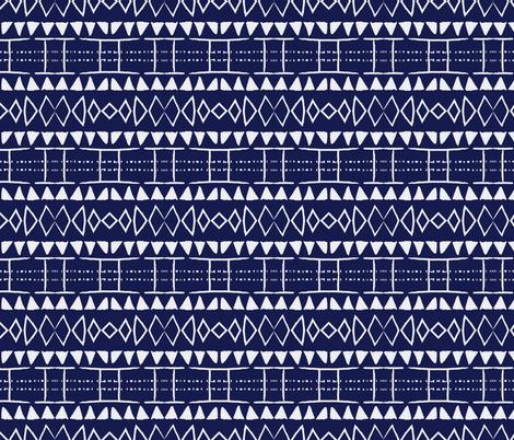 indigo blue new mudcloth mudcloth african mud cloth mali  fabric by jenlats on Spoonflower - custom fabric