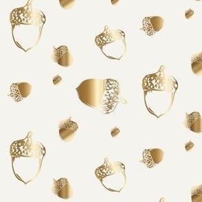 Gold acorns fall table autumn acorn golden