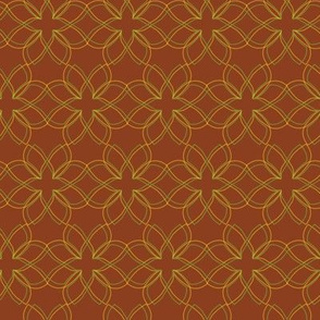 Burnt-Orange-Seamless-Interlocking-Flowers
