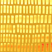 Yellow and orange tiles pattern