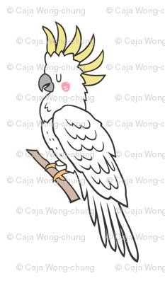 Tropical Bird Cockatoo Pillow Plush Plushie Softie Cut & Sew