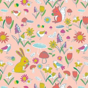 Woodland Frolic - Pink