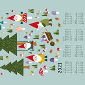 Gnomes Tea Towel Calendar 2021