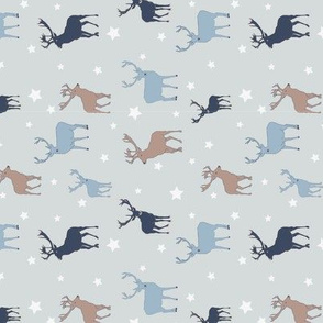 Winter Stags