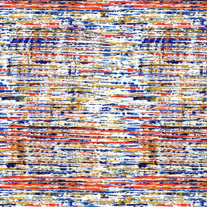 70's stripe orange _ blue