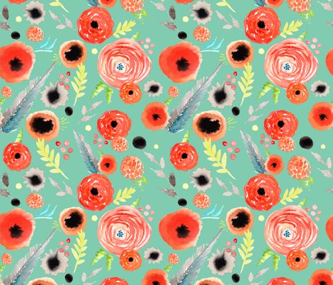 Rrorange-floral-pattern-green-background_shop_preview