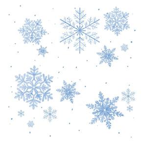 blue snowflakes