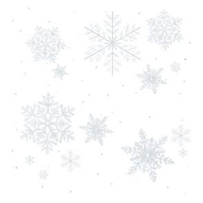 gray snowflakes