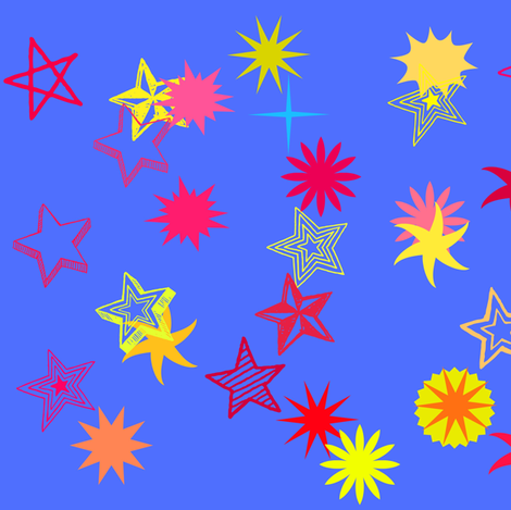 Happy Christmas Stars fabric by angelsgreen on Spoonflower - custom fabric