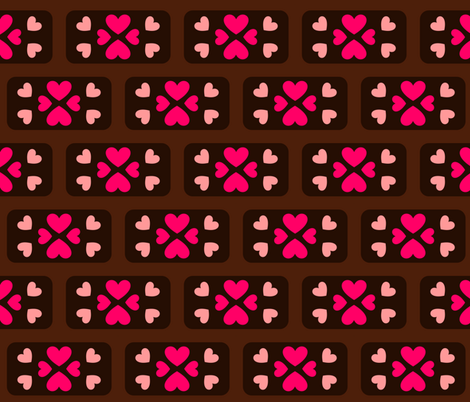 Gingerbread-Love fabric by charlenebag on Spoonflower - custom fabric