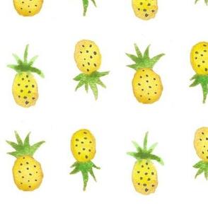 Watercolor Pineapples