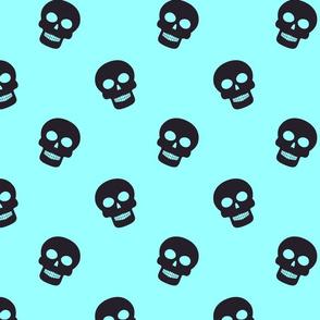 Simple skulls blue