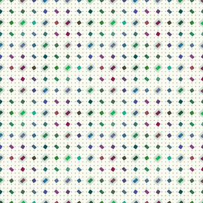 Plasma Polka Dot Diamonds on Cream