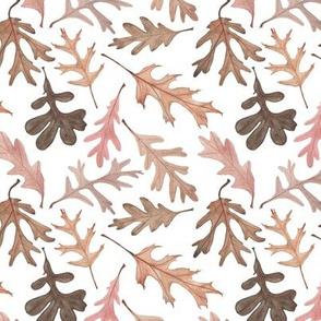 Watercolor Oak Leaves -- Small Scale