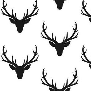 Black Deer Antlers – Woodland Baby Nursery Kids Children Baby Boy Bedding A