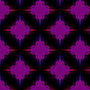 Magenta and Purple Sinus Motif on Black
