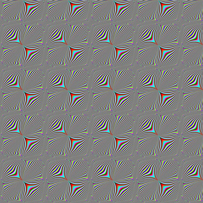 Multicolored Pinched Diagonal Stripes
