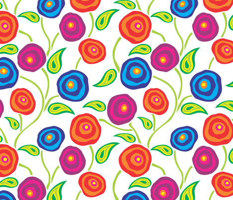 Oh, So Dizzy! -WHITE fabric by jewelraider on Spoonflower - custom fabric