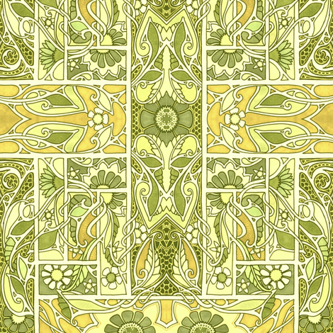 Basket Weave Garden fabric by edsel2084 on Spoonflower - custom fabric