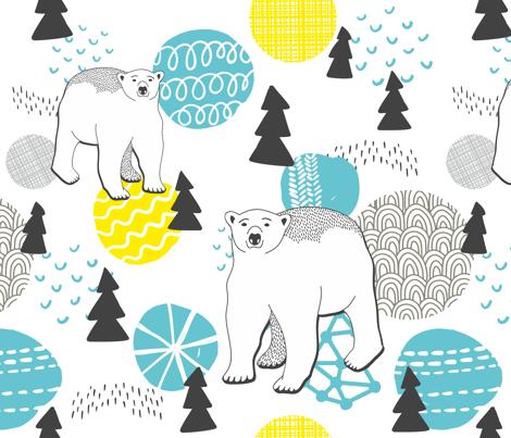 The polar bear fabric by panova on Spoonflower - custom fabric