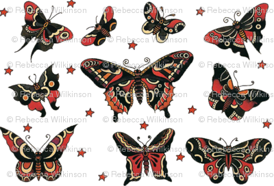 Butterfly Flash Tattoos